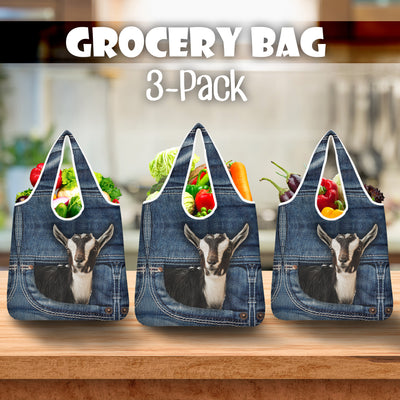 Goat Jeans Grocery Bag 3-Pack