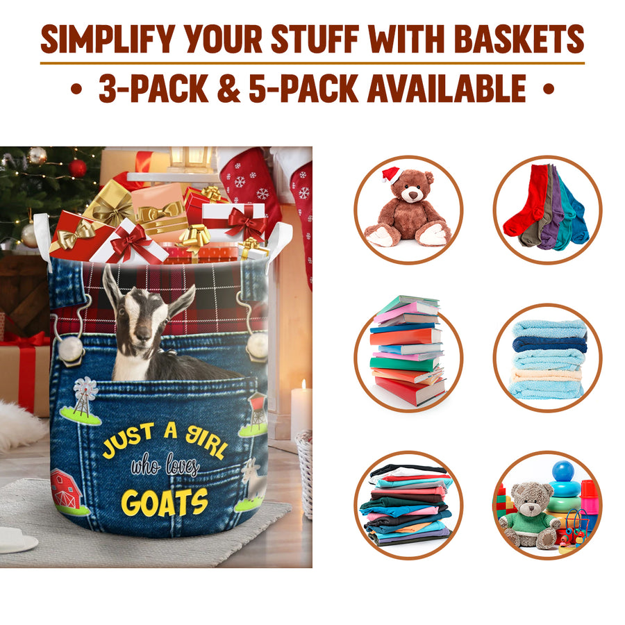 Just A Girl Who Loves Goats Gift Basket