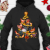Chickens Christmas Tree Pullover Hoodie