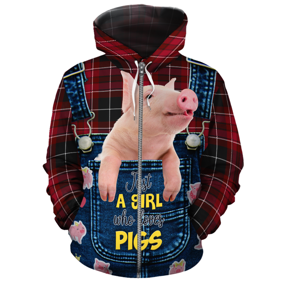 Just A Girl Who Loves Pigs All-over Hoodie