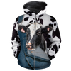 Farming Face Dairy Cow Jean Pattern All-over Hoodie
