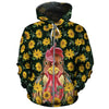 Sunflower Chicken All-over Hoodie