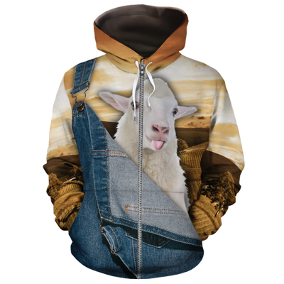 Farming Sheep Jean Pattern All-over Hoodie