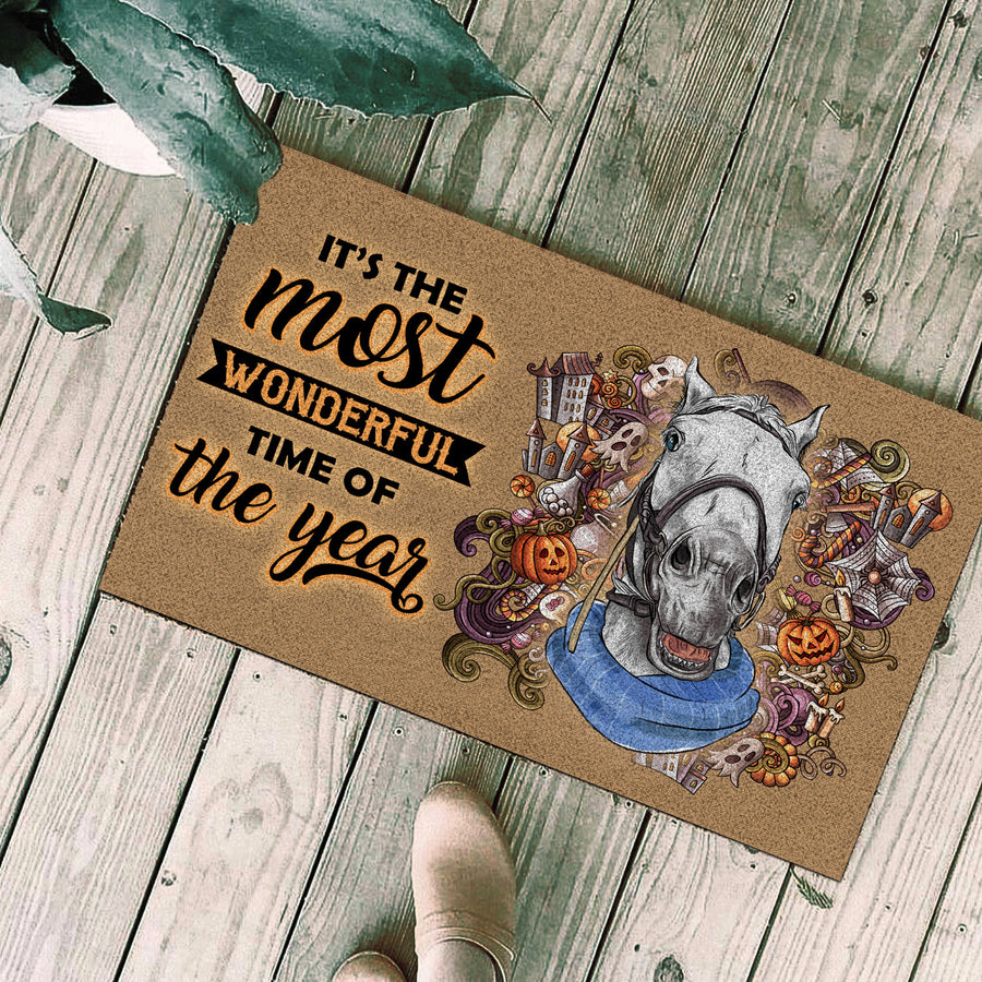 It's The Most Wonderful time Of The Year - Horses Doormat