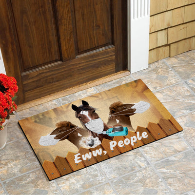 Horses Eww People Doormat