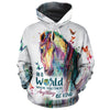 In A World Where You Can Be Anything, Be Kind All-over Hoodie