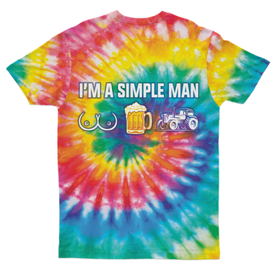 I'm A Simple Man Tie Dye T-shirt
