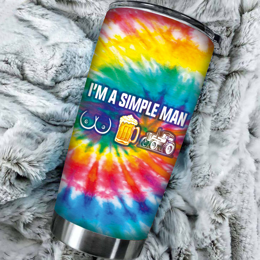 I'm A Simple Man Tie Dye Tumbler