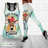Just A Girl Who Loves Cows Hollow Tank Top And Legging Set