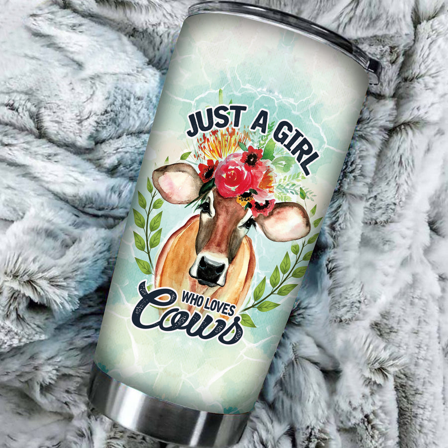 Just A Girl Who Loves Cows Tumbler