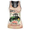 Just A Girl Who Loves Tractors Hollow Tank Top