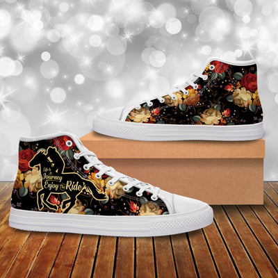 Life Is A Journey, Enjoy The Ride 2 Canvas Shoes