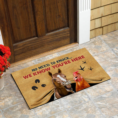 No Need To Knock, We Know You're Here Doormat