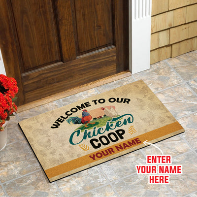 Personalized - Welcome To Our Chicken Coop Doormat