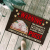 This Property Is Protected By Highly Trained Pigs - Pigs Doormat