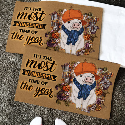 It's The Most Wonderful time Of The Year - Pigs Doormat