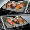 Rainy Driving Chickens Auto Sun Shade