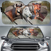 Rainy Driving Horses Auto Sun Shade