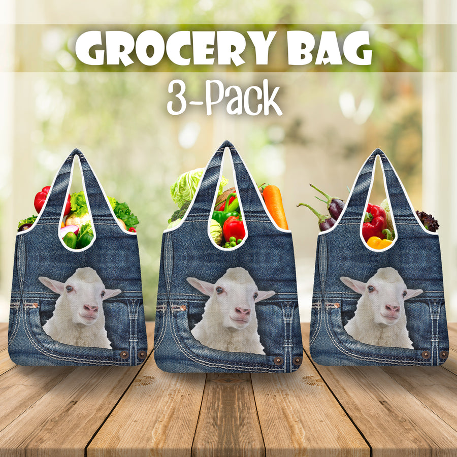 Sheep Jeans Grocery Bag 3-Pack