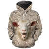 Cute Sheep Face All-over Hoodie