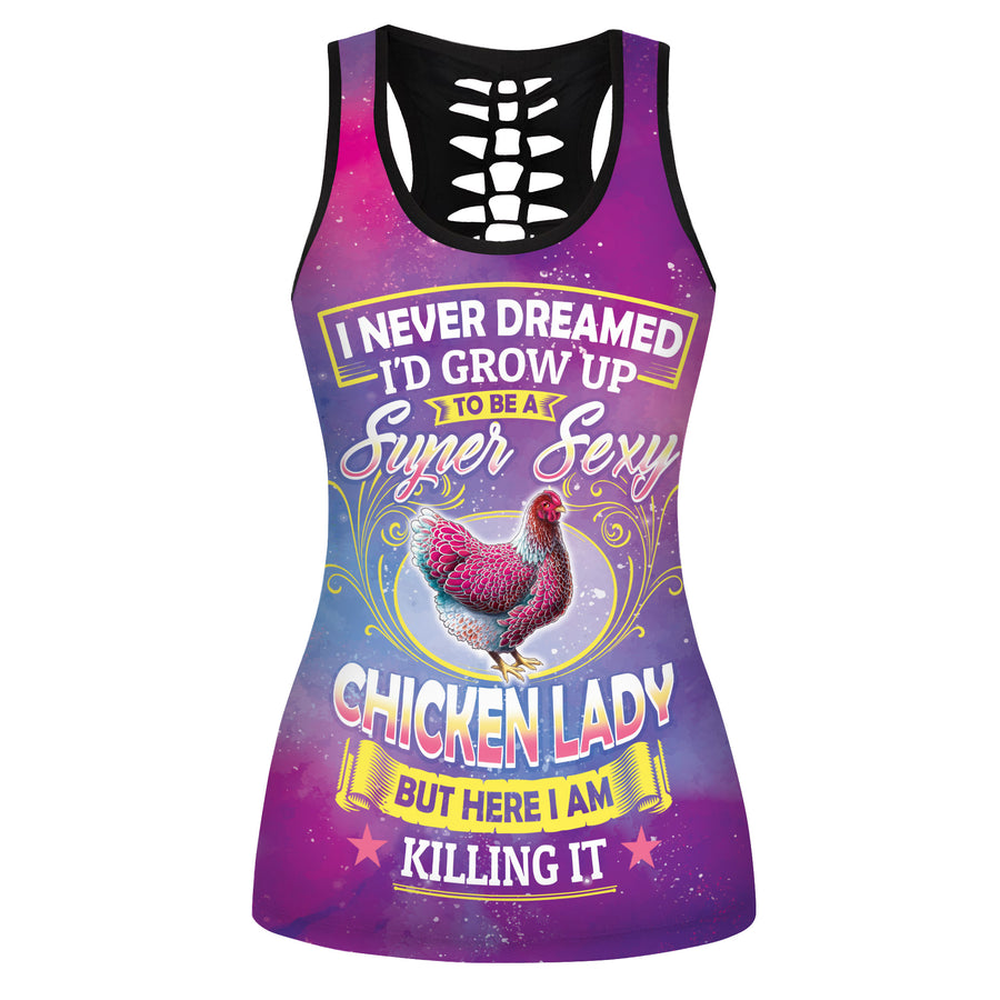 Super Sexy Chicken Lady Hollow Tank Top