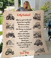 Wife to Husband - Thank You For Walking Beside Me -  Cozy Plush Fleece Blanket - 50x60
