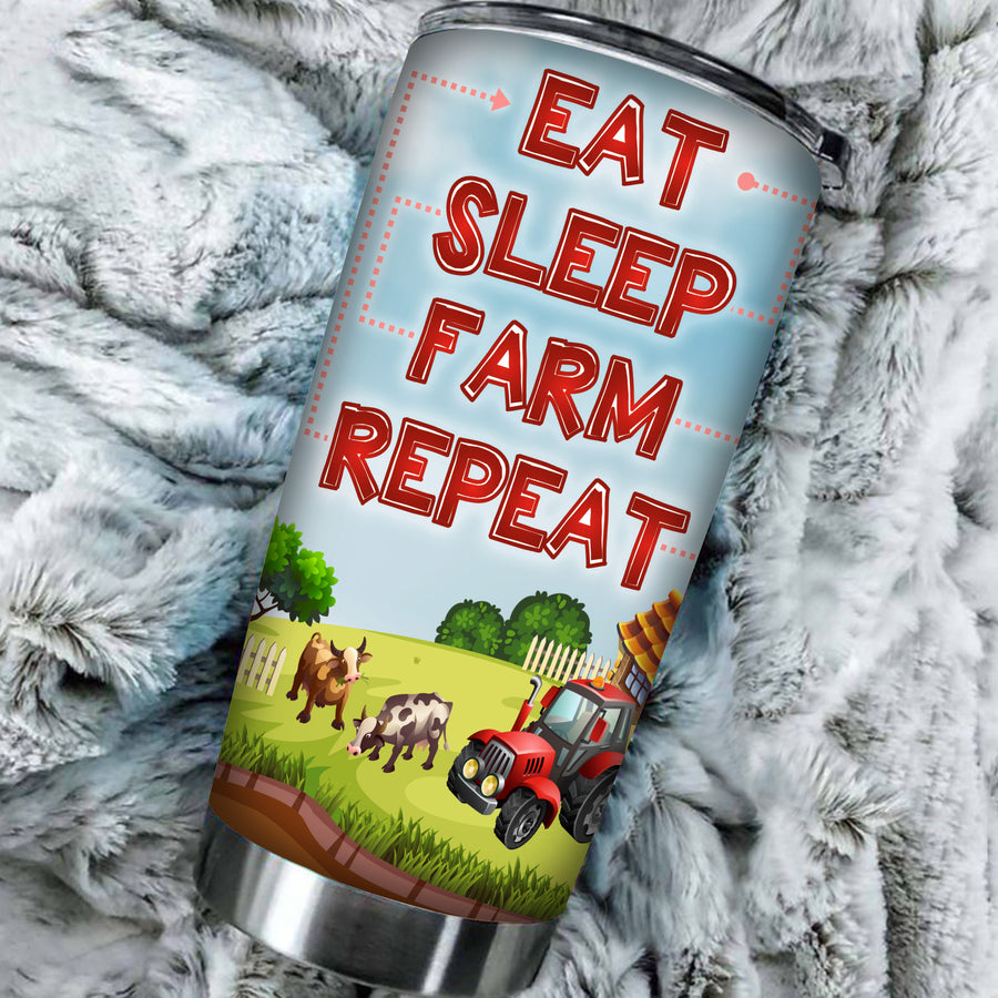 Eat Sleep Farm Repeat 1 Tumbler