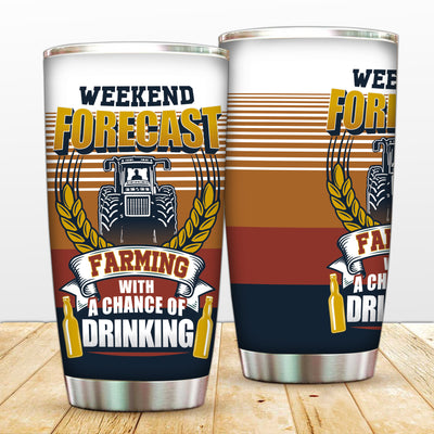 Vintage Weekend Forecast Tumbler
