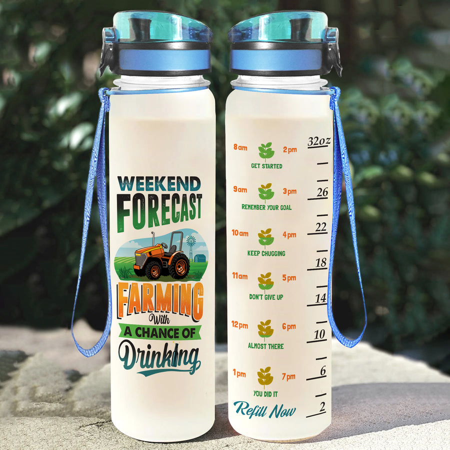 Weekend Forecast Water Tracker Bottle