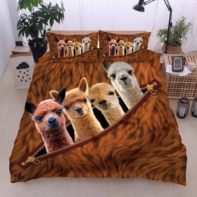 Alpacas Zip Bedding set