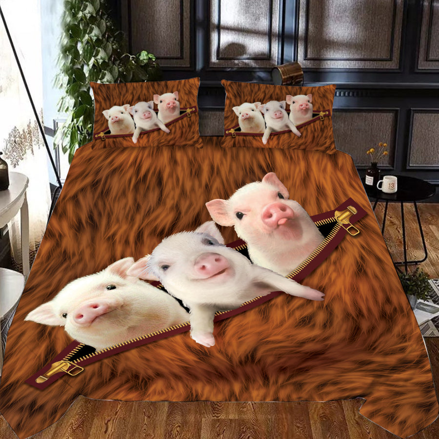 Pigs Zip Bedding set