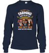 You Get Old When You Stop Farming Retro Style T-shirt Horses