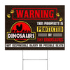 This Property Is Protected By Tiny Dinosaurs Yard Sign