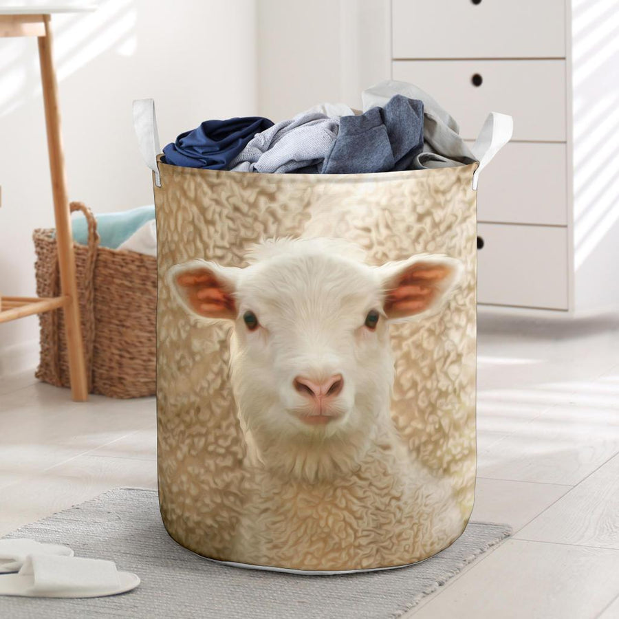 Cute Sheep Face Laundry Basket