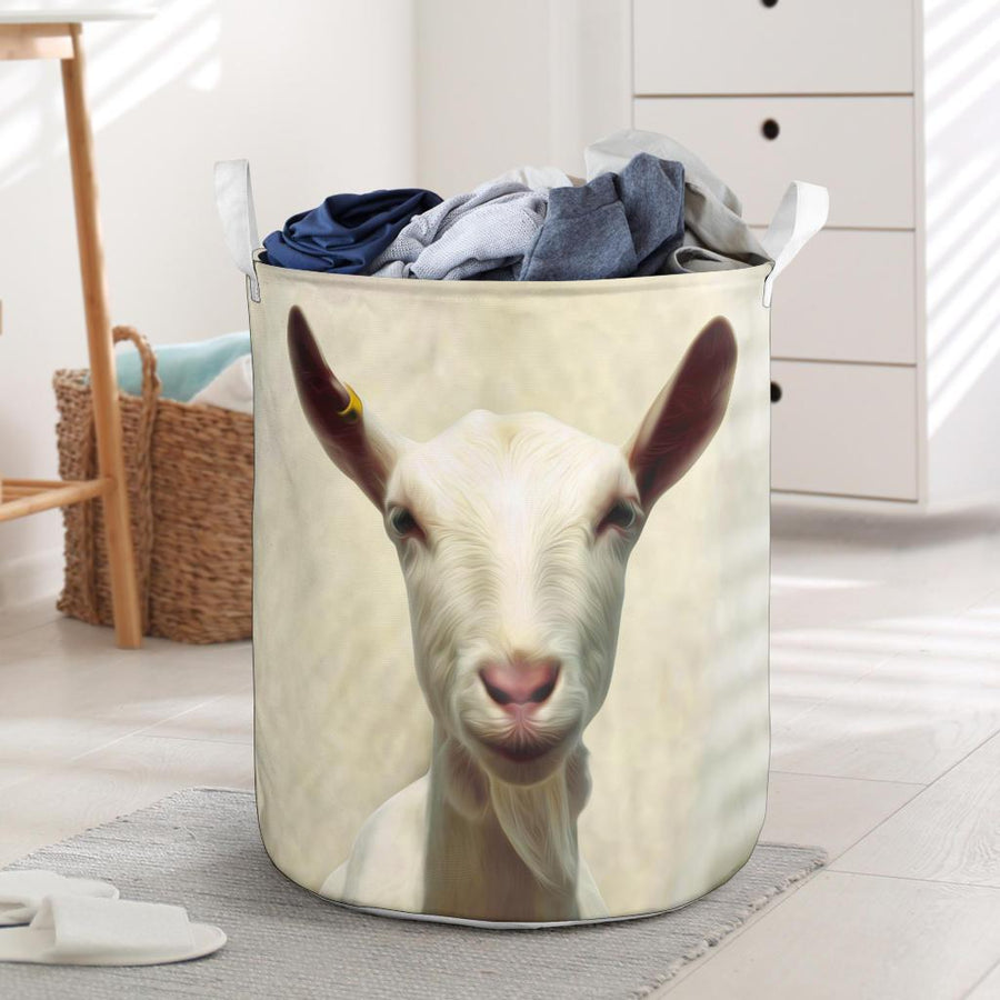 Cute Goat Face Laundry Basket