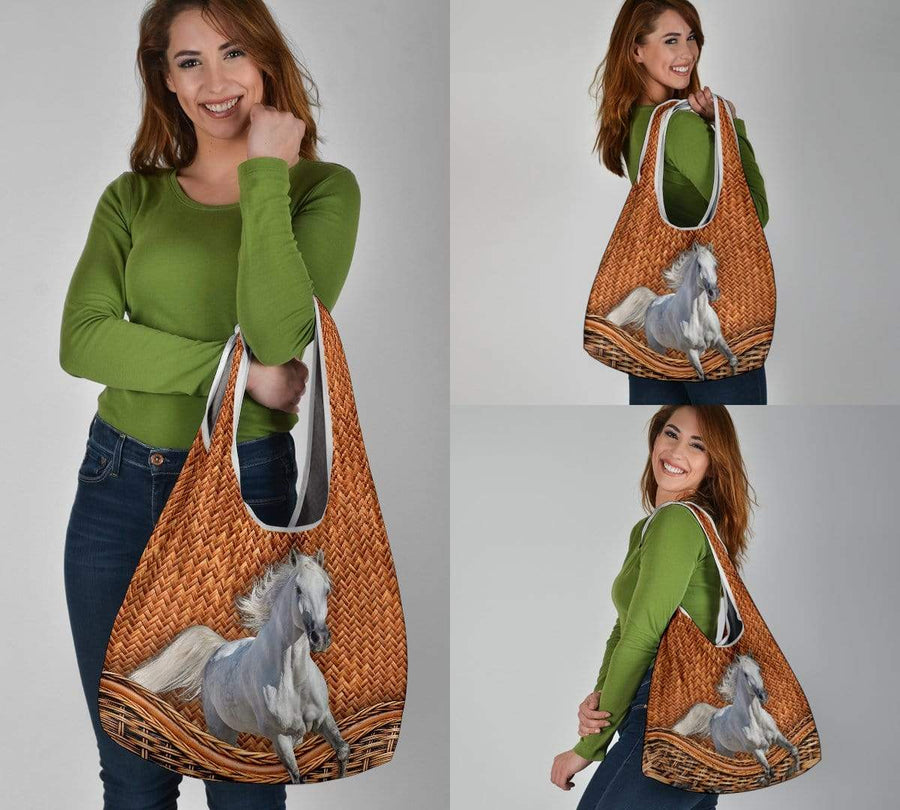 Horse Rattan 1 Grocery Bag 3-Pack