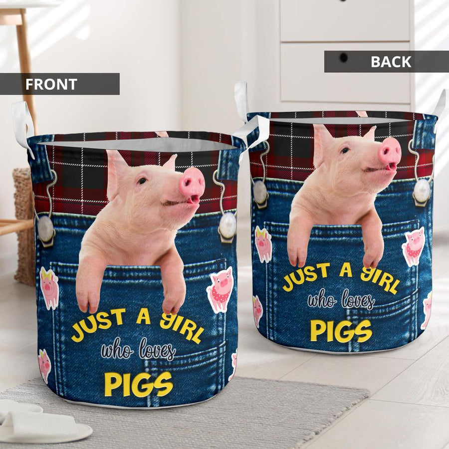 Just A Girl Who Loves Pigs Laundry Basket