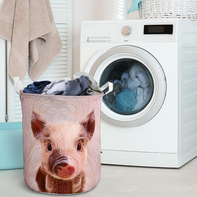 Cute Pig Face Laundry Basket