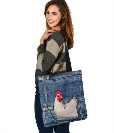 Chicken Jeans Tote Bag