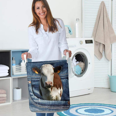 Dairy Cow Jeans Laundry Basket