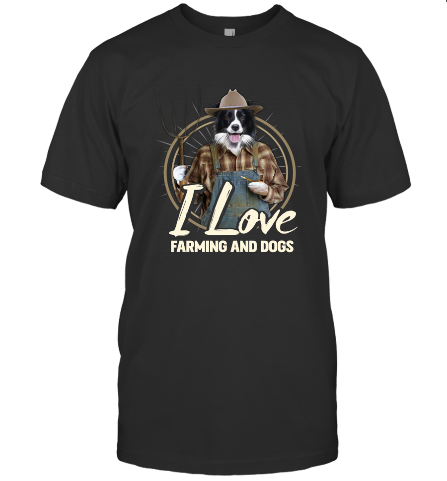 I Love Farming And Dogs  2D T Shirt