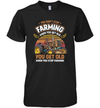 You Get Old When You Stop Farming Retro Style T-shirt Tractor