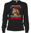 Never Underestimate A Farmer And Was Born In November  Horse T Shirt