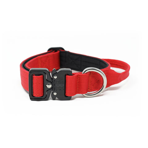 2.5cm Combat Dog Collar - Red v2.0