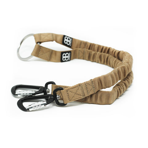 Zero Shock Bungee Dog Lead - Military Tan
