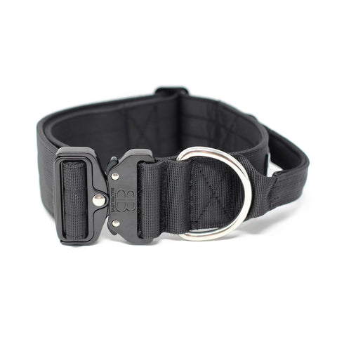 5cm Combat Dog Collar - Black v2.0