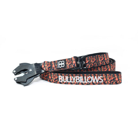 Swivel Combat Dog Lead - CAMO Orange