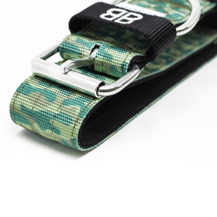 5cm Nylon Dog Collar - CAMO Green v2.0