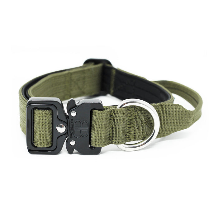 2.5cm Combat Dog Collar - Khaki v2.0