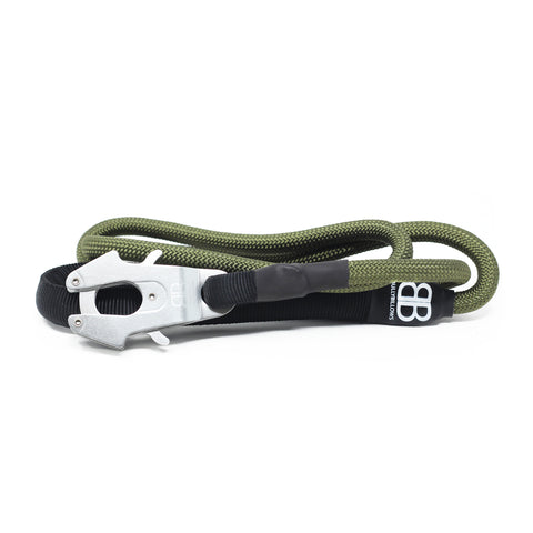 Combat Rope Dog Lead - MATTE PLATINUM - Khaki